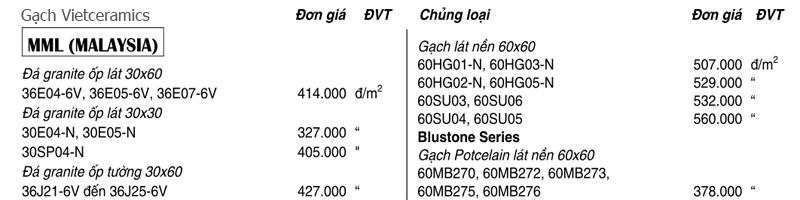 Báo giá gạch vietceramics - Giá RẺ số 1 Hà Nội 1