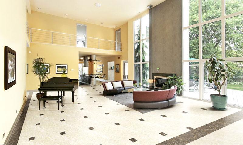 Gạch lát nền phòng khách đẹp Đồng Tâm trong bộ sưu tập Trường Sơn