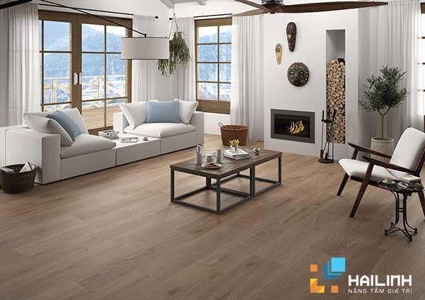gạch vân gỗ thích hơp với không gian mang phong cách cổ điển