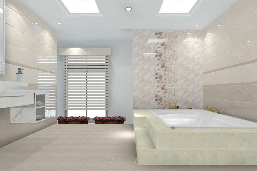 gạch lát nền với gạch ốp tường