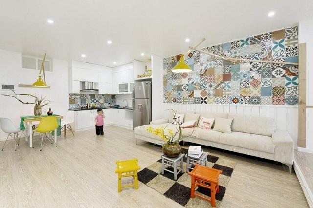 Cập nhật 6 mẫu gạch ốp tường phòng khách đẹp