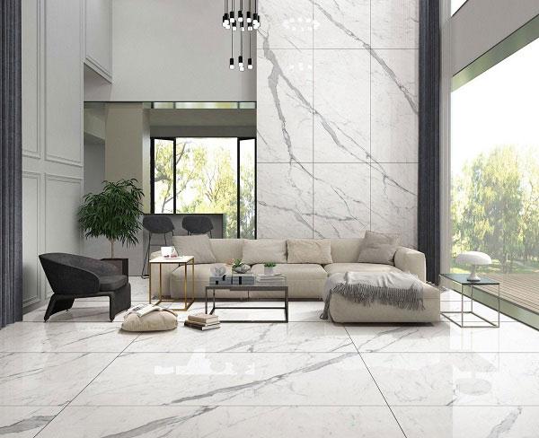 Một số cách phối màu gạch ốp tường phòng khách đẹp độc đáo