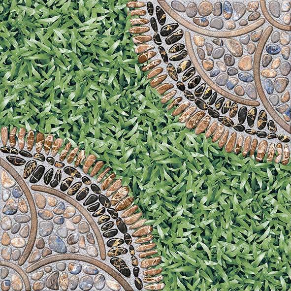 Gạch sân vườn giả cỏ phong cách Rustic  2