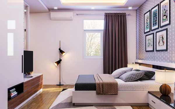 Sử dụng đèn led âm trần cho phòng ngủ